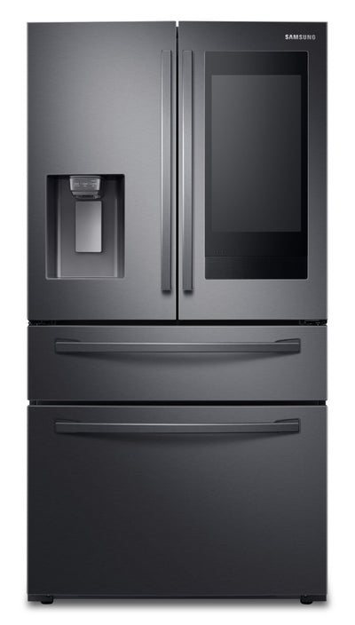 Samsung 28 Cu. Ft. 4-Door French-Door Refrigerator with Family Hub™ - RF28R7551SG/AC - Refrigerator in Black Stainless Steel