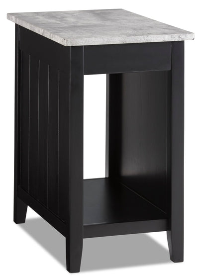 Jodie Chairside Table with USB - Black