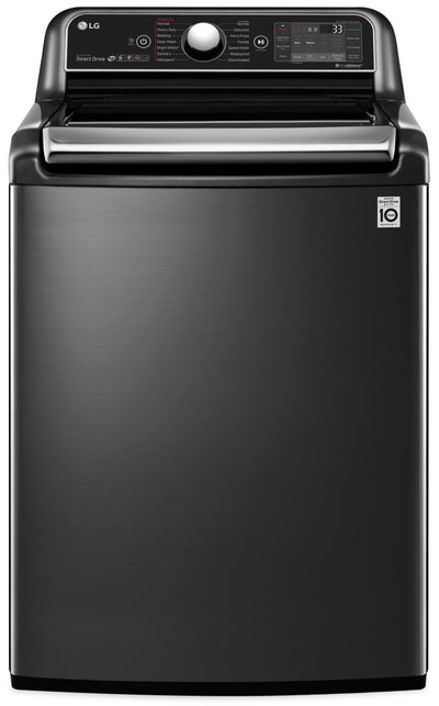 LG 6.0 Cu. Ft. Top-Load Washer with TurboWash3D™ Technology - WT7850HBA - Washer in Black Stainless Steel