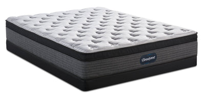 Beautyrest® Melbourne Eurotop Low-Profile Full Mattress Set  | Ensemble matelas à Euro-plateau à profil bas Melbourne de BeautyrestMD pour lit double  | MLBRNLFP
