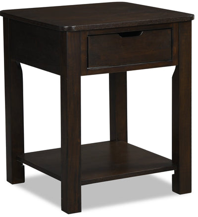 Nikko End Table – Brown  | Table de bout Nikko - brune  | NIKKOETB