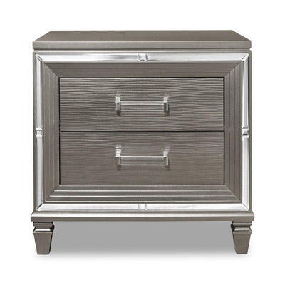 Max Nightstand - Silver | Table de nuit Max - Argentée | MAX2C2NS