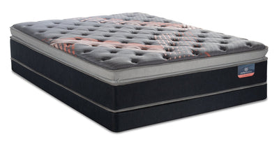 Serta Perfect Sleeper Performance Pulse Pillowtop Low-Profile Queen Mattress Set