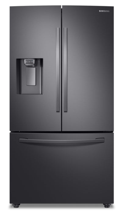 Samsung French-Door Refrigerator with Twin Cooling Plus™ - RF28R6201SG/AA - Refrigerator in Fingerprint Resistant Black Stainless Steel