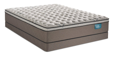 Serta Perfect Sleeper Oasis Rejuvenate Eurotop Low-Profile Queen Mattress Set