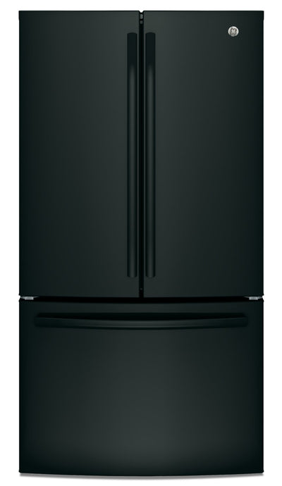 GE 27 Cu. Ft. French-Door Refrigerator with Internal Water Dispenser - GNE27JGMBB - Refrigerator in Black