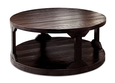 Fano Round Coffee Table - Brown  | Table à café ronde Fano - brune  | FANORCTB