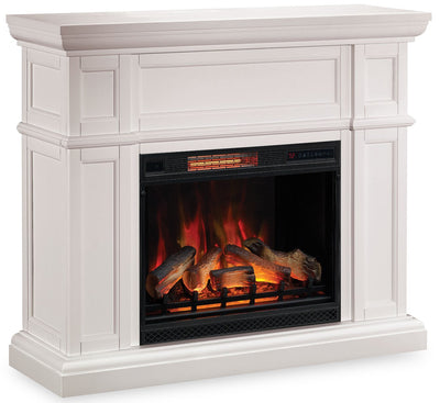 Shelby Fireplace - White