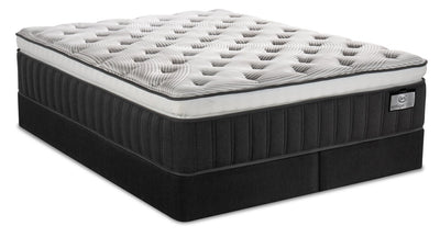 Serta Vintage Hybrid Symmetry Super Pillowtop Split Queen Mattress Set