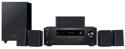 Gentec/Klipsch Home Theatre Package - Onkyo 5.1- Channel Home Theater Receiver & Speaker Package - HT-S3910