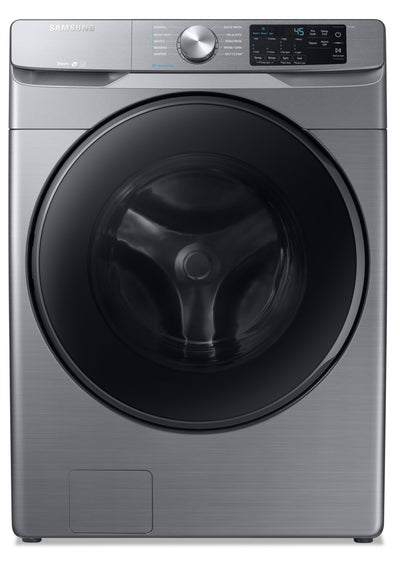 Samsung 5.2 Cu. Ft. Front-Load Washer with Steam - WF45R6100AP/US - Washer in Platinum