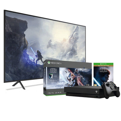 "Samsung 58"" NU6080 Smart 4K UHD TV and Xbox One X Star Wars Bundle 