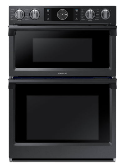 "Samsung 30"" Microwave Combination Wall Oven with Flex Duo™ – NQ70M7770DG/AA - Double Wall Oven in Black Stainless Steel"