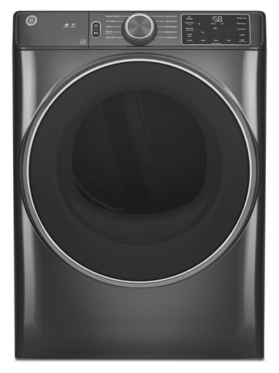 GE 7.8 Cu. Ft. Front-Load Gas Dryer with Built In Wi-Fi - GFD55GSPNDG | Sécheuse à gaz GE à chargement frontal de 7,8 pi³ avec Wi-Fi intégré - GFD55GSPNDG | GFD55GDG