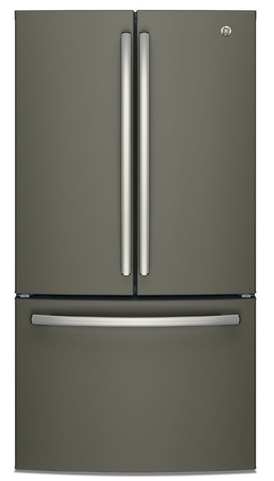 GE 27 Cu. Ft. French-Door Refrigerator with Internal Water Dispenser - GNE27JMMES - Refrigerator in Slate