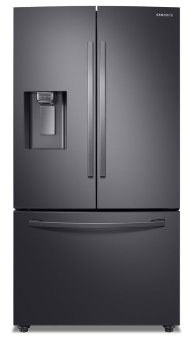 Samsung 22.6 Cu. Ft. Smart French-Door Refrigerator with Twin Cooling Plus™ - RF23R6201SG/AA - Refrigerator in Black Stainless Steel