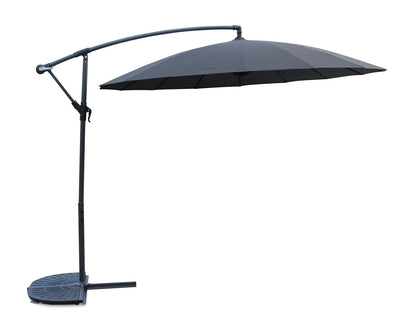 Shanghai Patio Umbrella with Base - Charcoal | Parasol Shanghai pour la terrasse avec base - anthracite | SHANGCUP