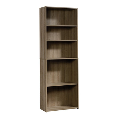 Grady 5-Shelf Bookcase  - Traditional style Bookcase in Light brown Engineered Wood