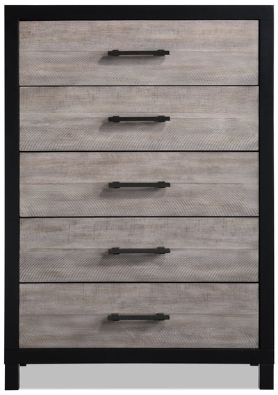 Reese Chest - Black and Grey | Commode verticale Reese - noire et grise | REESB5CH