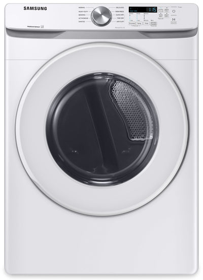 Samsung 7.5 Cu. Ft. Front-Load Electric Dryer - DVE45T6005W/AC | Sécheuse électrique Samsung à chargement frontal de 7,5 pi³ - DVE45T6005W/AC | DVE45T5W