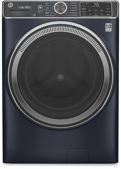 GE 5.8 Cu. Ft. Front-Load Washer with Built-In Wi-Fi - GFW850SPNRS - Washer in Sapphire Blue