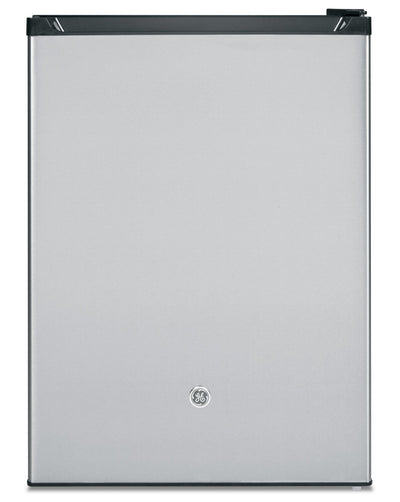 GE 5.6 Cu. Ft. Compact Refrigerator with Can Rack - GCE06GSHSB - Refrigerator in Stainless Steel
