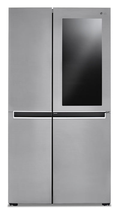LG 27 Cu. Ft. Side-by-Side Refrigerator with InstaView™ Door-in-Door® - LRSES2706V - Refrigerator in Platinum Silver