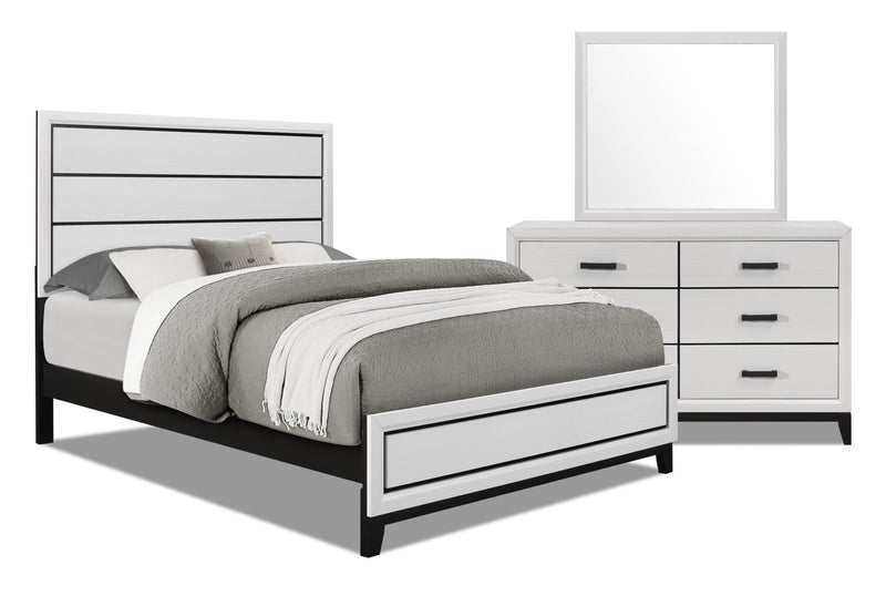 Kate 5-Piece Queen Bedroom Package - White | Ensemble de chambre à coucher Kate 5 pièces avec grand lit - blanc | KATEWQP5