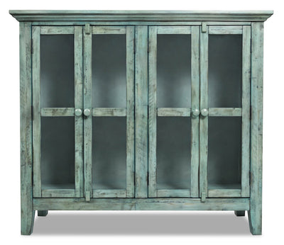 Rocco Blue Accent Cabinet – Medium  | Armoire décorative Rocco bleue - moyenne  | ROCBMACC