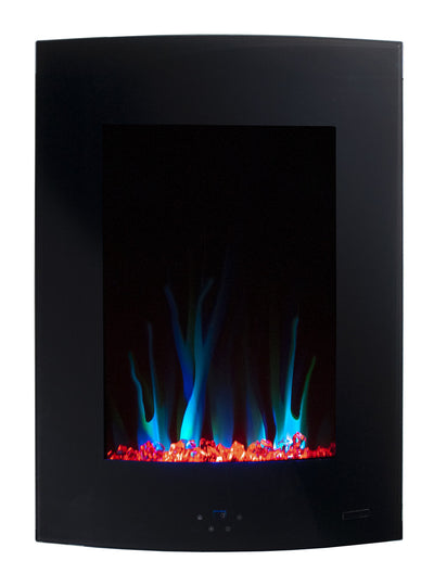 "Amber 27"" Wall-Mount Electric Fireplace  