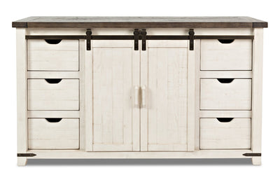 Belle Server - Antique White | Desserte Belle - blanc antique | BELLWDSV