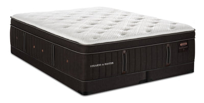 Stearns & Foster Founders Collection Cedar Falls Eurotop Low-Profile King Mattress Set | Ensemble matelas à Euro-plateau à profil bas Cedar Falls de Stearns & Foster pour très grand lit | SFCEDLKP