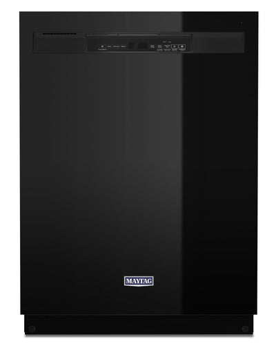 Maytag Front-Control Dishwasher with Dual Power Filtration - MDB4949SKB - Dishwasher in Black