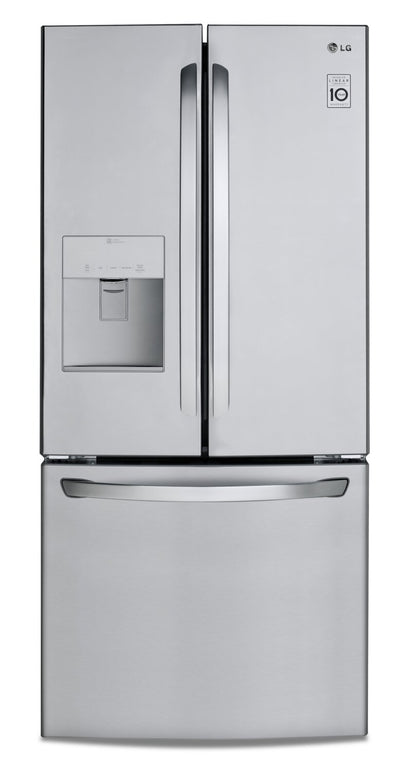 LG 21.8 Cu. Ft. French-Door Refrigerator with Exterior Water Dispenser- LRFWS2200S - Refrigerator in Smudge-Resistant Stainless Steel