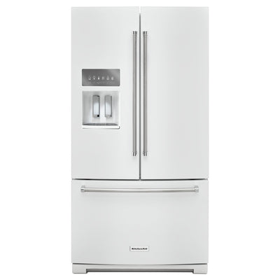 KitchenAid 26.8 Cu. Ft. French-Door Refrigerator - KRFF507HWH - Refrigerator in White