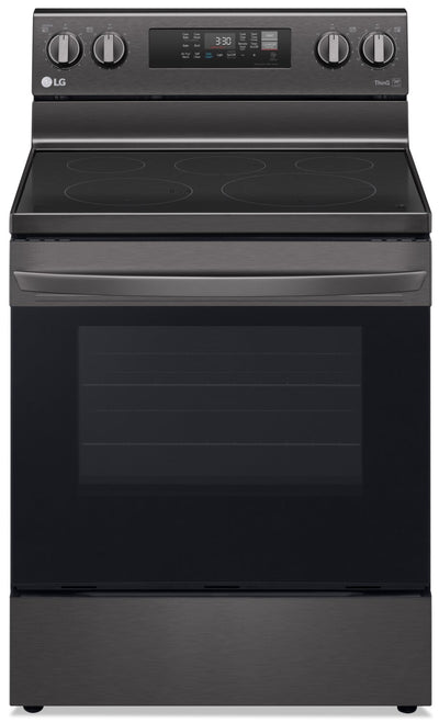 LG 6.3 Cu. Ft. Smart Convection Electric Range with Air Fry - LREL6323D - Electric Range in Black Stainless Steel
