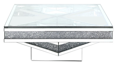 Rosie Coffee Table  - Glam style Coffee Table in Silver Medium Density Fibreboard (MDF)