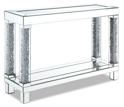 Berni Sofa Table  - Glam style Sofa Table in Silver Medium Density Fibreboard (MDF)