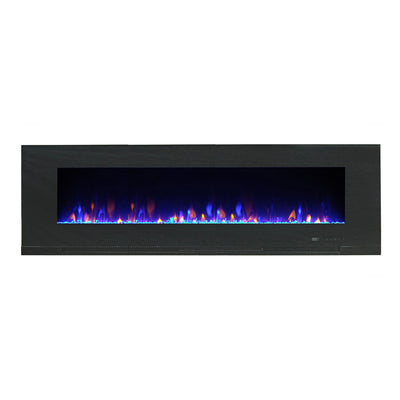 "Billy 60"" Wall-Mount Electric Fireplace  - Contemporary style Electric Fireplace in Black"