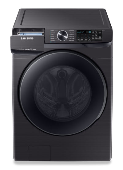 Samsung 5.8 Cu. Ft. Smart Front-Load Washer with Super Speed - WF50T8500AV/US - Washer in Black Stainless Steel