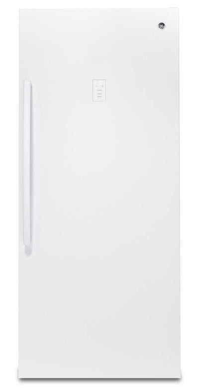 GE 21.3 Cu. Ft. Frost-Free Upright Freezer - FUF21SMRWW | Congélateur vertical GE sans givre de 21,3 pi³ – FUF21SMRWW | FUF21SMR