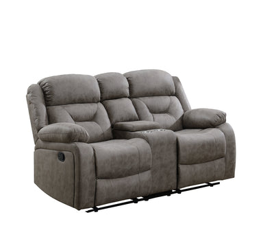 Sala Faux Suede Reclining Loveseat - Coffee