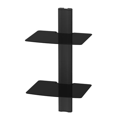 Kanto AVT2 Audio/Video Wall Mounted Height Adjustable Shelf, 2 Shelves | Étagère murale AV Kanto AVT2 à hauteur réglable, 2 tablettes | AVT2WSHF