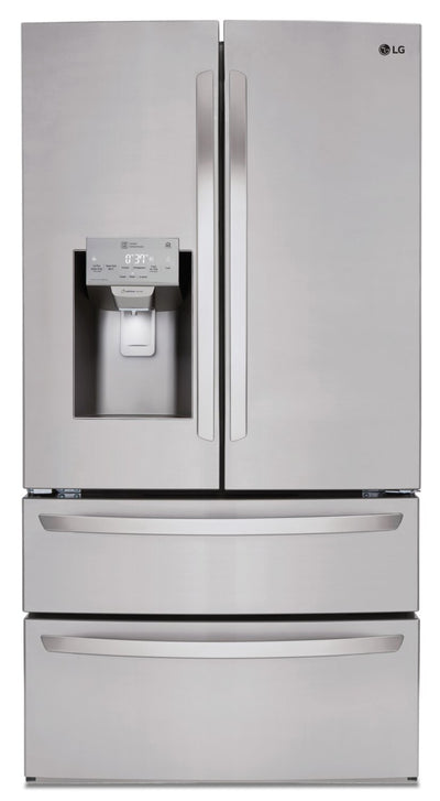 LG 28 Cu. Ft. Smart 4-Door French-Door Refrigerator - LMXS28626S - Refrigerator in Smudge Resistant Stainless Steel