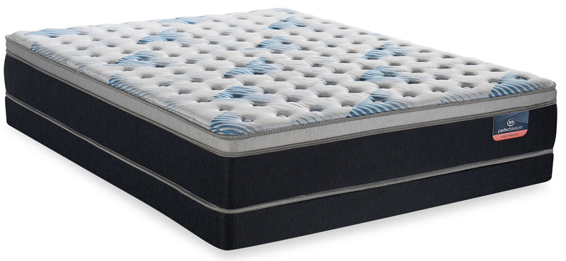 Serta Perfect Sleeper Performance Focus Eurotop Low-Profile Queen Mattress Set