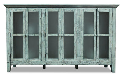 Rocco Blue Accent Cabinet – Large  | Armoire décorative Rocco bleue - grande  | ROCBLACC