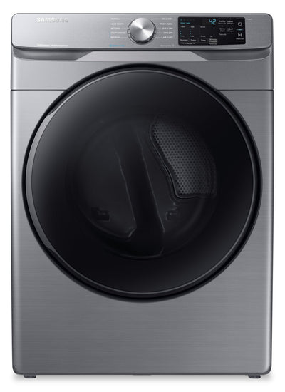 Samsung 7.5 Cu. Ft. Electric Dryer with Steam Sanitize+ - DVE45T6100P/AC - Dryer in Platinum