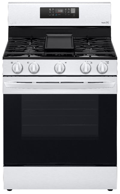 LG 5.8 Cu. Ft. Smart Gas Range with Air Fry - LRGL5823S - Gas Range in Stainless Steel