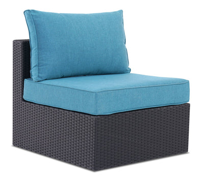 Minnesota Armless Patio Chair - Blue | Fauteuil sans accoudoirs Minnesota pour la terrasse - bleu | MIN2B0AM