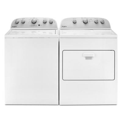 Whirlpool 4.8 Cu. Ft. Top-Load Washer and 7.0 Cu. Ft. Gas Dryer – White - Laundry Set in White